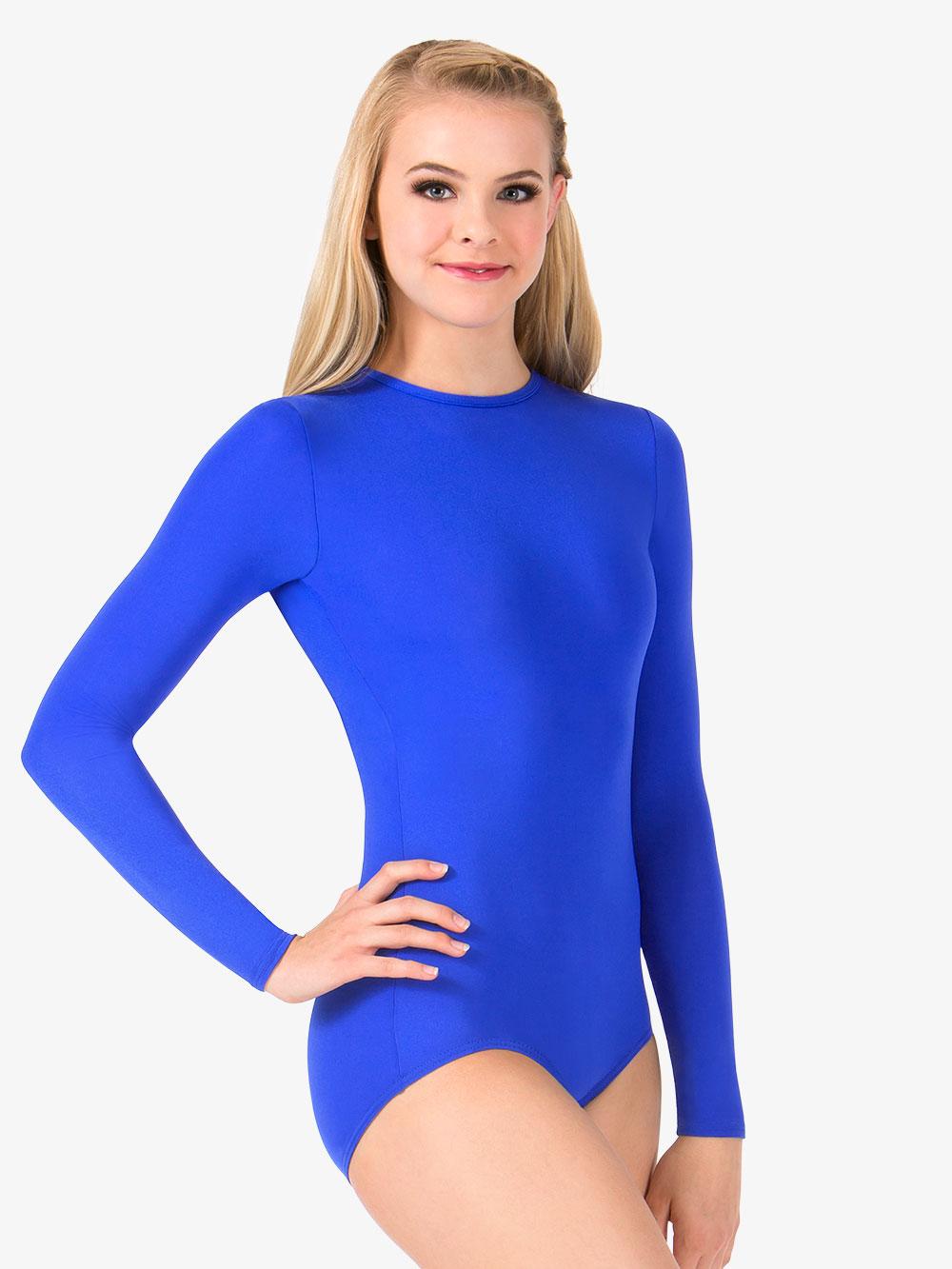 Hollywood Star Fashion Womens Short-Sleeve Scoop Neck Snap Crotch Leotard Snap Crotch Bodysuit