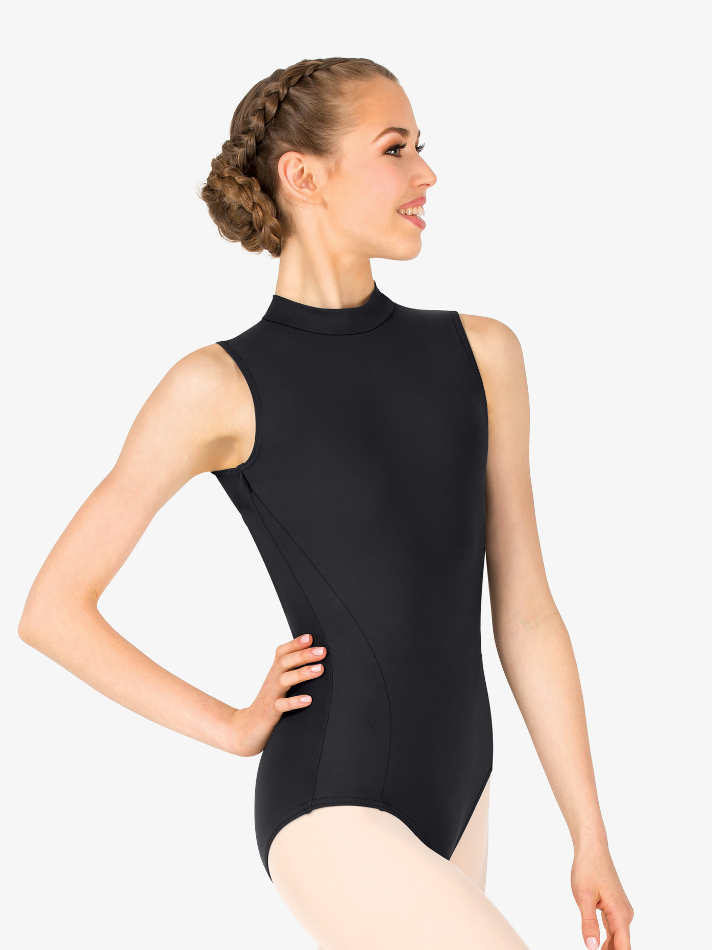 d019bb42973646 Womens Mock Neck Open Back Leotard - Style No TC0048W. Loading zoom