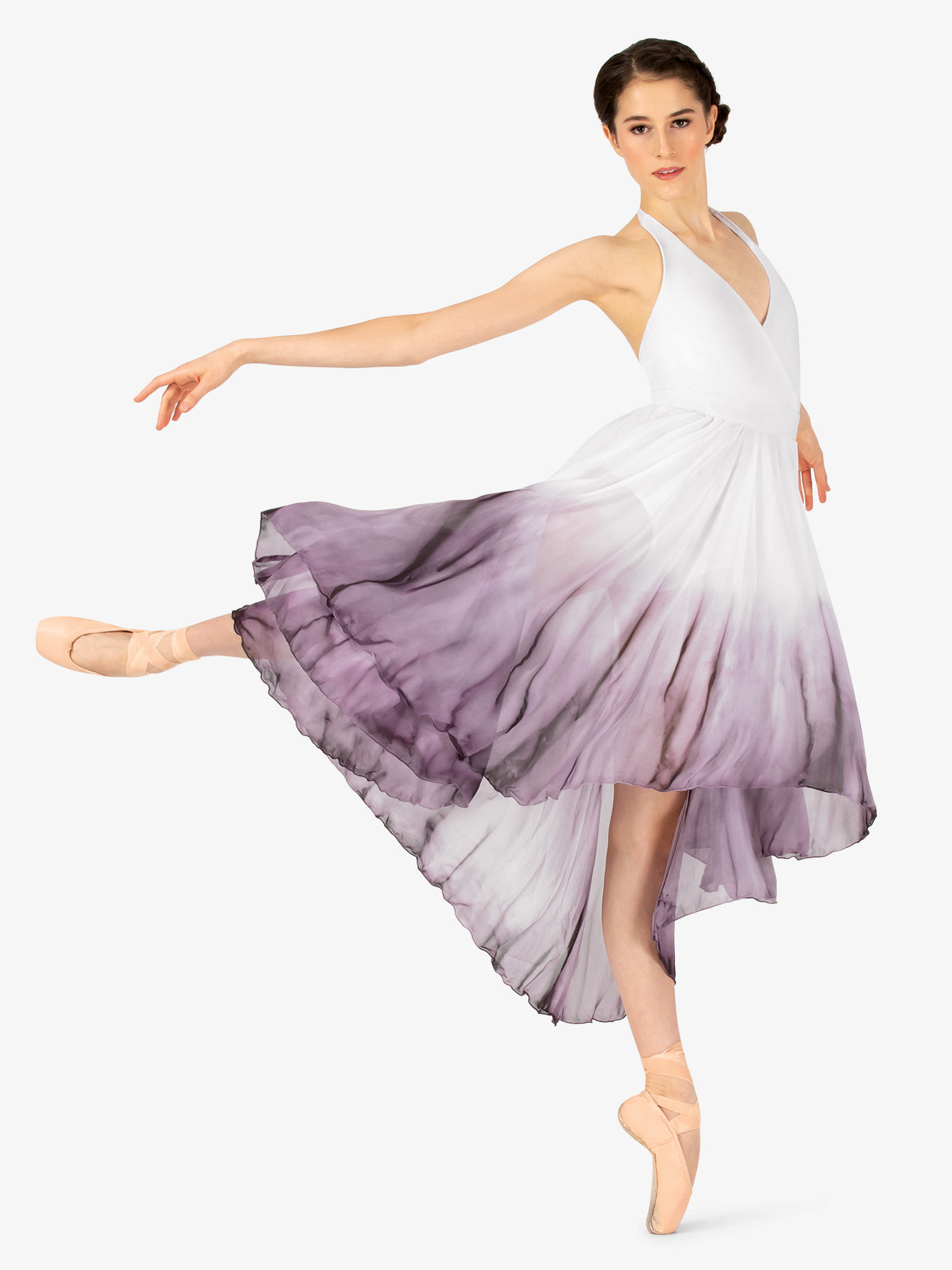 6e5085bd93 Hand Painted Hi-Lo Halter Dress - Ballet/Lyrical | Watercolour WC202 ...