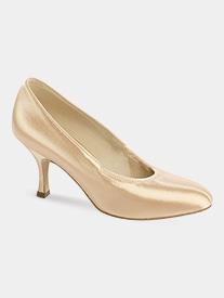 Womens Round Toe Satin Ballroom Dance Shoes