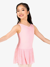 Girls Pinch V-Front Tank Ballet Dress