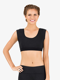 Womens Cap Sleeve Athletic Crop Top