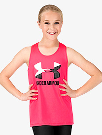 Girls Big Logo Print Active Tank Top
