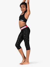 Girls Fitness HeatGear Armour Capri Length Leggings