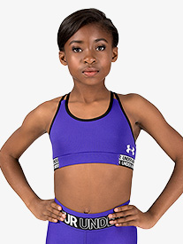 Girls Solid Colored Split Camisole Racerback Sports Bra