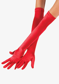 Adult Extra Long Satin Gloves
