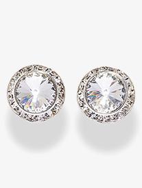 17MM Pierced Swarovski Crystal Earrings