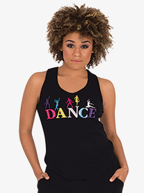 Womens Colorful Graphic Dance Tank Top