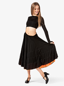 Adult 3-Color Ruffle Cancan Skirt