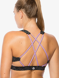 Womens Crisscross Back Compression Bra Top