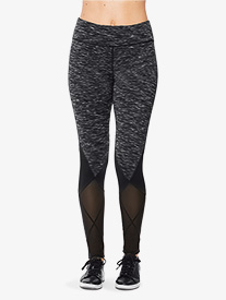 Womens Mesh Detail Workout Leggings