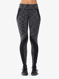 Womens Contrast Stripe Fitness Leggings