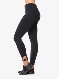 Womens Ankle Cutout Workout Leggings