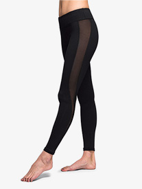 Womens Mesh Side Panel Fitness Leggings