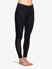 Womens Mesh Panel Fitness Leggings
