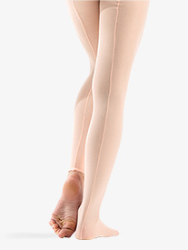 Adult Professional Seamed Mesh Convertible Tights