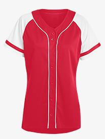 Womens Softball Style Jersey Top