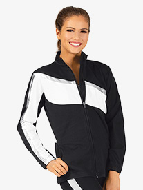 Ladies Brushed Tricot Zip Up Jacket