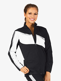 Girls Brushed Tricot Zip Up Jacket