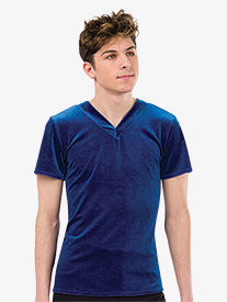 Mens Performance Velour Short Sleeve Top