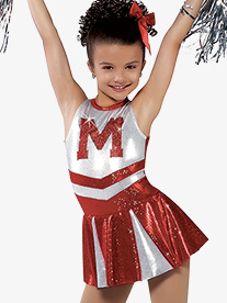 Girls Hey Mickey Sequin Tank Character Dance Costume Dress