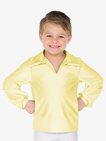 Boys Performance Collared Long Sleeve Top