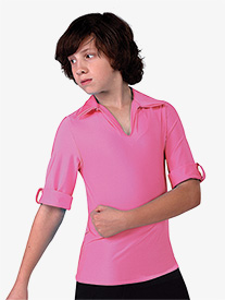 Boys Performance Spandex Cuffed Half Sleeve Top