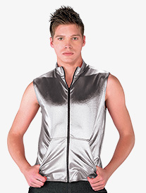 Mens Performance Metallic Denim Vest