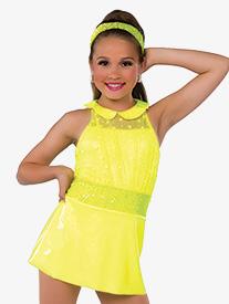 Womens I Love It Glitter Mesh Performance Dress