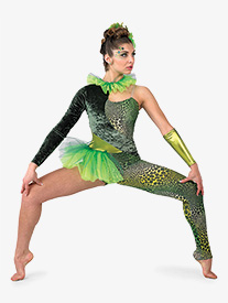 Womens Reptile Asymmetrical Performance Unitard
