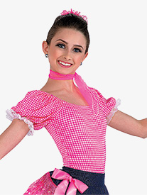 Womens Rodeo Short Sleeve Character Dance Leotard