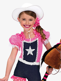 Girls Rodeo Short Sleeve Character Dance Leotard