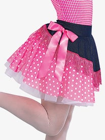 Girls Rodeo Asymmetrical Character Dance Skirt