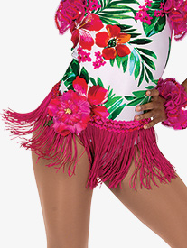 Girls Caribbean Jam Character Dance Costume Fringe Skirt