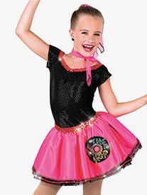 Womens Rock Around The Clock Character Dance Tutu Dress