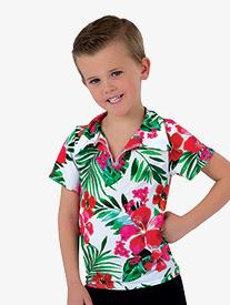 Boys Caribbean Jam Character Dance Costume Short Sleeve Top