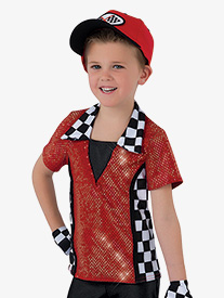 Boys Speed Racer Character Dance Costume Short Sleeve Top