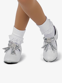 Girls Performance Cotton Lace Trim Socks