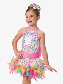 Girls Bubblegum Sequin Performance Skirt