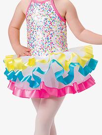 Girls Bubblegum Dance Costume Tutu Skirt