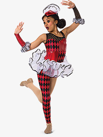 Womens Fool In Love Asymmetrical Character Dance Unitard