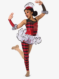 Girls Fool In Love Asymmetrical Character Dance Unitard