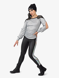 Womens One Dance Faux Leather Performance Leggings