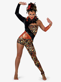 Womens Tigress Asymmetrical Character Dance Unitard