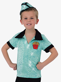 Boys Check Please Character Dance Short Sleeve Top
