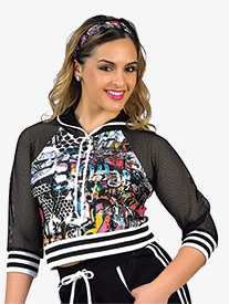 Girls Performance Issues Cropped Hooded Jacket