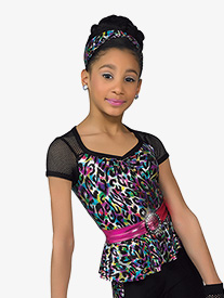 Girls Rockabye Leopard Print Performance Leotard