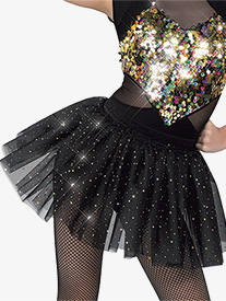 Womens Perfect Illusion Sequin Performance Tutu Skirt