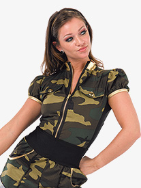 Girls Loyalty Camouflage Performance Leotard