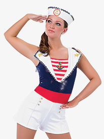 Womens All Aboard Character Dance Shorty Unitard